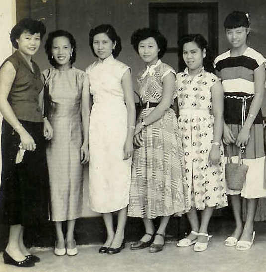 Lovely Ladies In Cheong Sam Second Third From Left Pencil Skirt And Poodle Skirts Right
