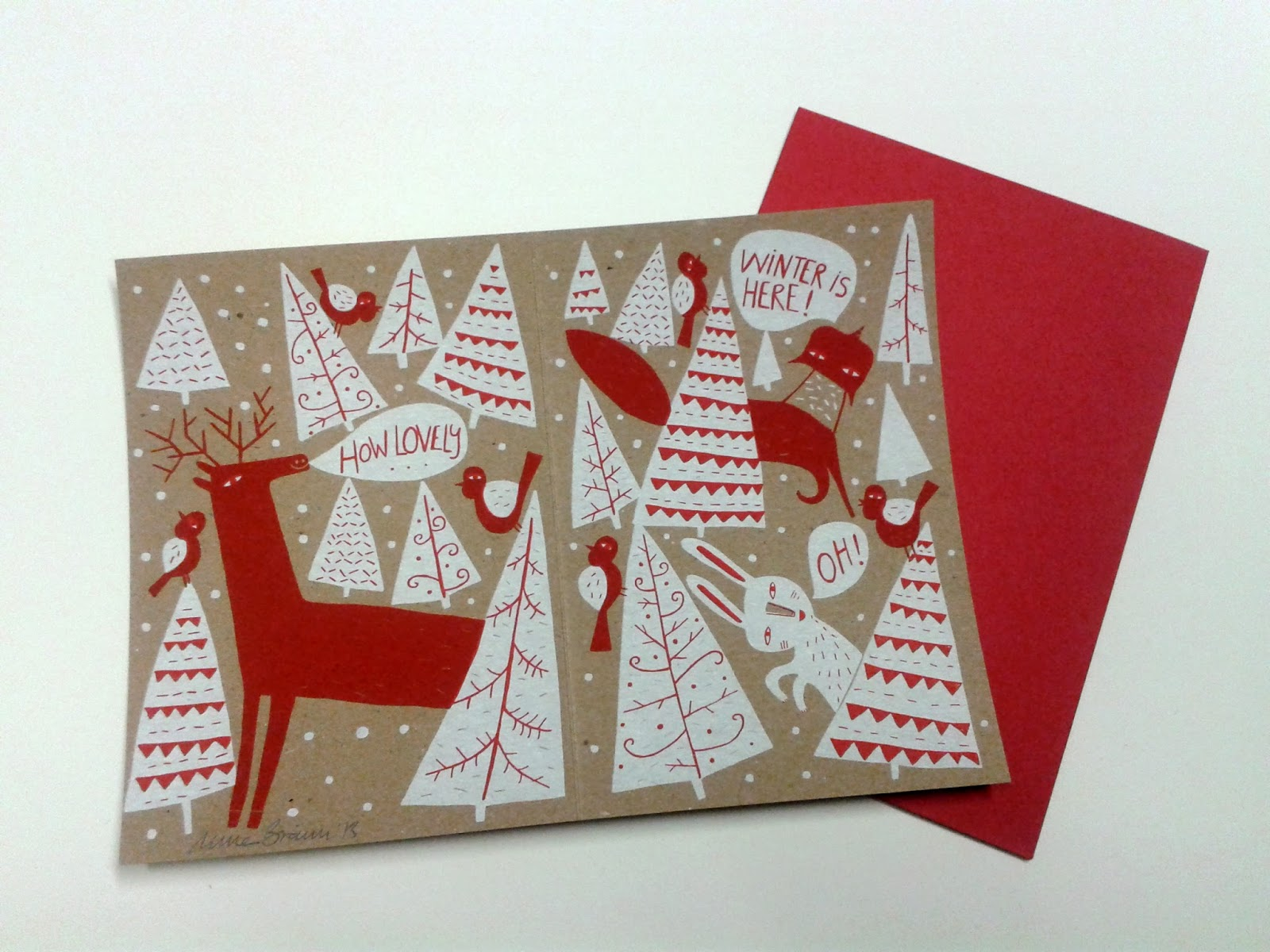 In The Meantime, Here Some Images Of My Latest Christmas Cards And Of Other  Recent Work.