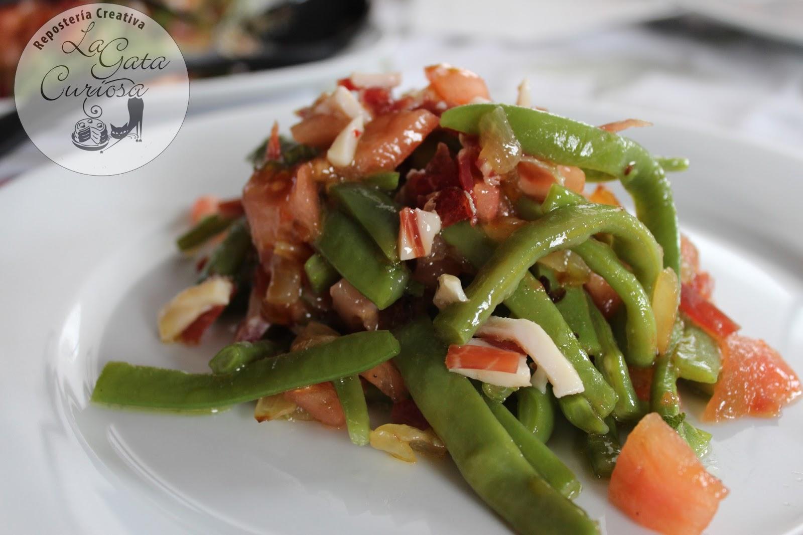La gata curiosa ensalada de judias verdes con jamon - Ensalada de judias verdes arguinano ...