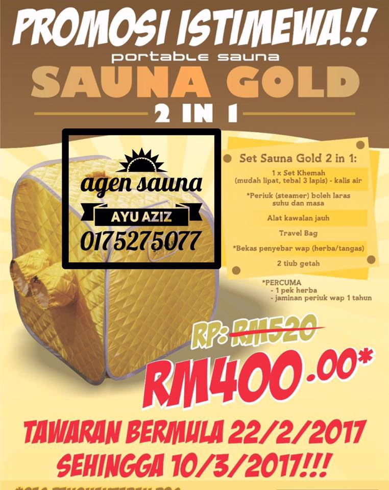 SAUNA GOLD HARGA OFFER