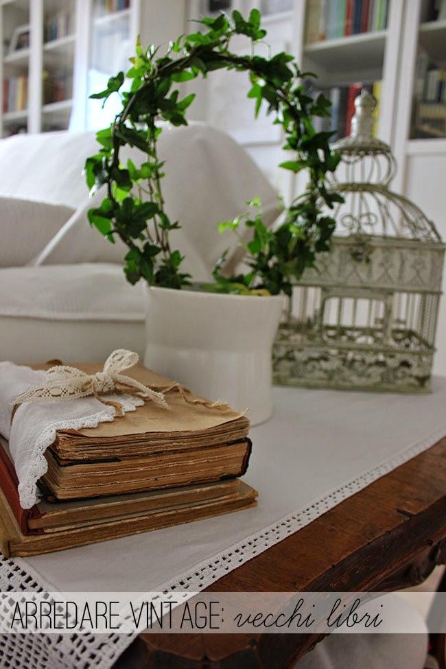 Decorare con i vecchi libri