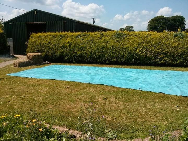 Hazlo t mismo como hacer una piscina con una lona y for Como hacer una alberca con tarimas