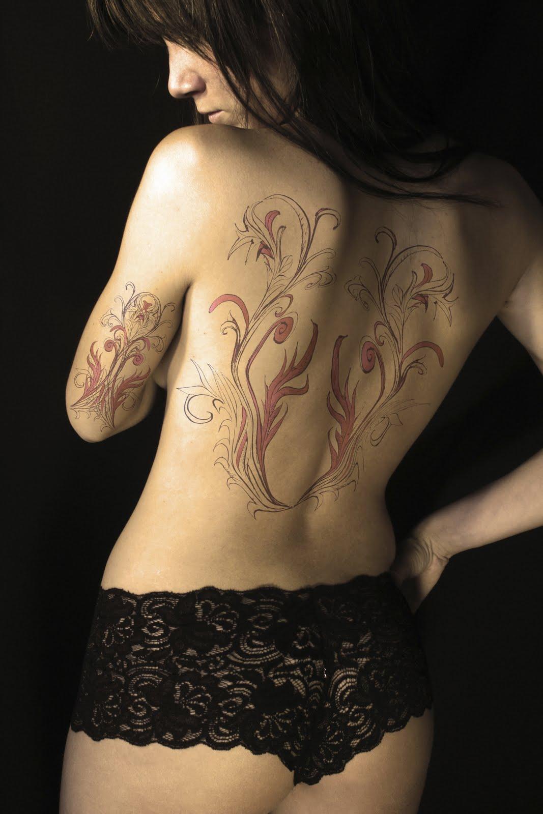 full back tattoo design ideas