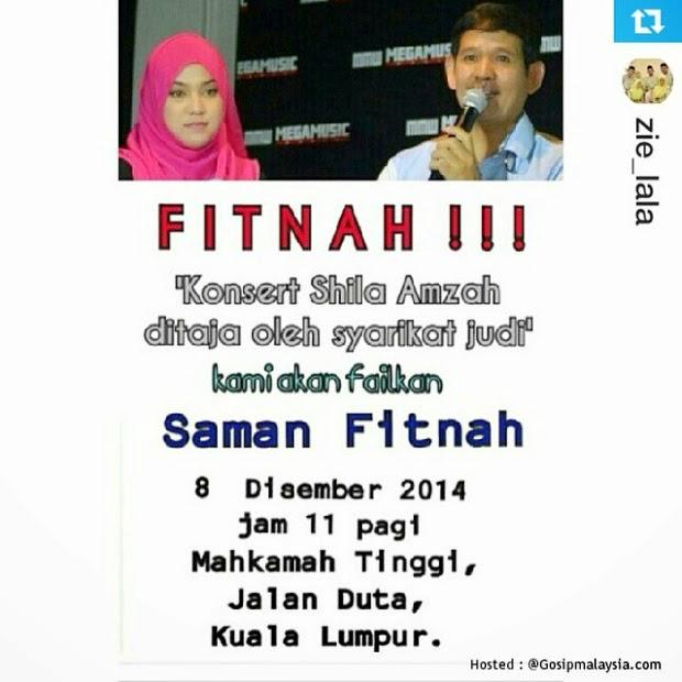 Shila Amzah Memfailkan Saman Fitnah, info, terkini, hiburan, sensasi, gosip terkini, shila amzah, kontroversi