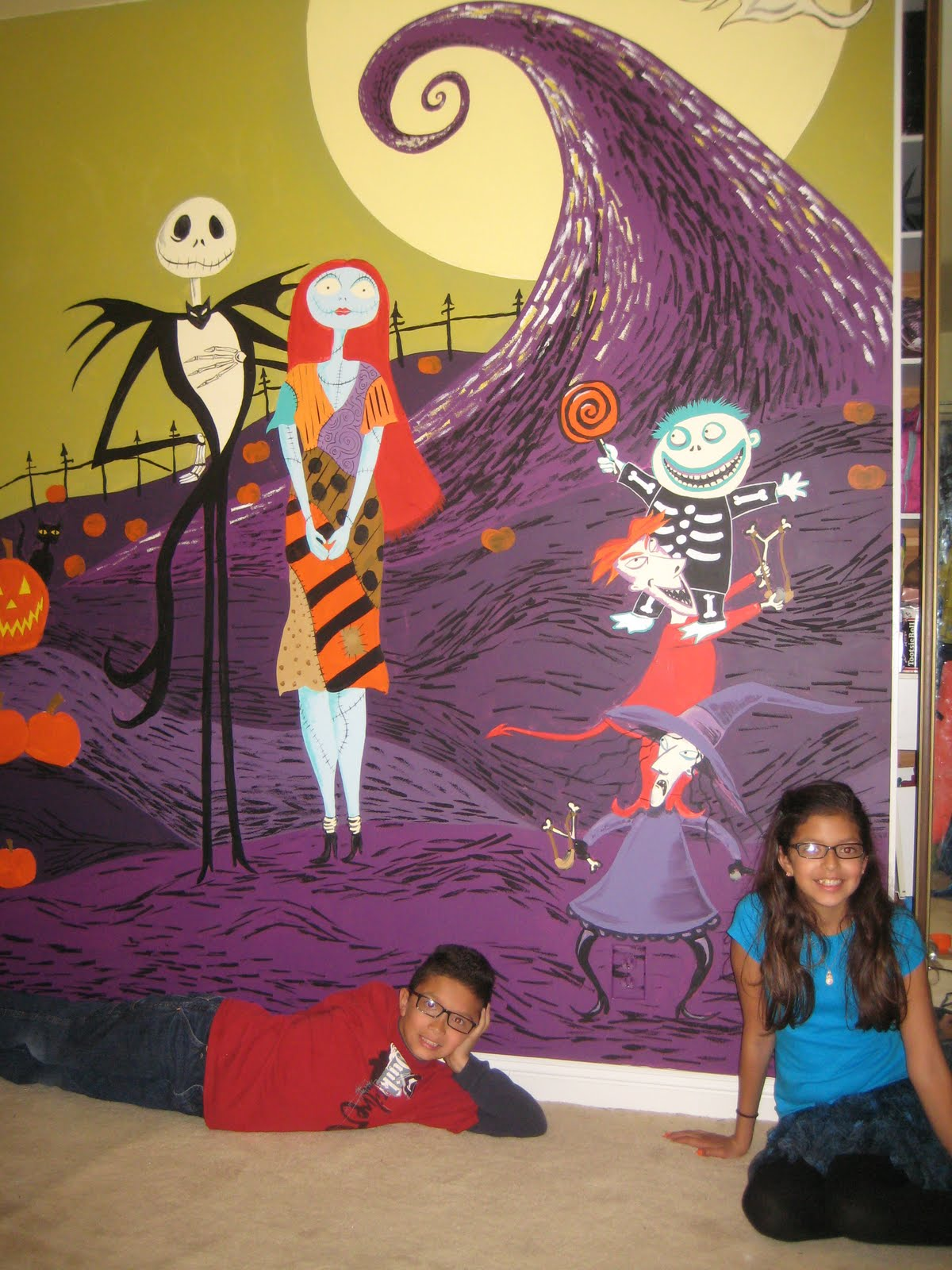 Esqueda Ink: Kids Nightmare Before Christmas Wall Nightmare Before Christmas Pumpkin Patch Drawing
