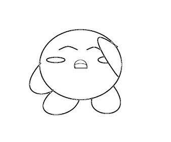 #7 Kirby Coloring Page
