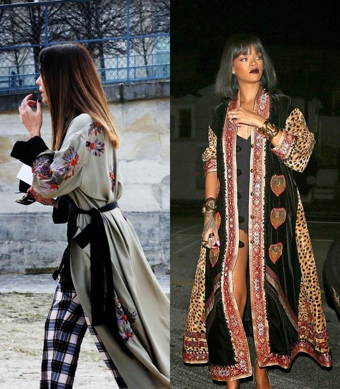 Quimonos ou Kimonos - primavera verão 2015 moda de rua street style