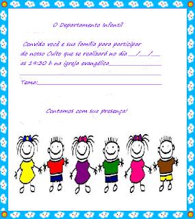 Gospel Infantil Modelos De Convites Para Culto Infantil