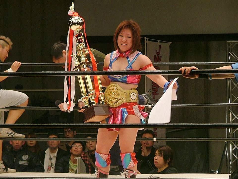 Arisa Nakajima Arisa regains JWP Belt from Kana Falcon Joshi Blog