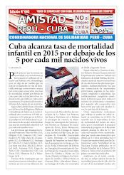"""BOLETÍN Nª065 """"AMISTAD PERÚ CUBA"""""""
