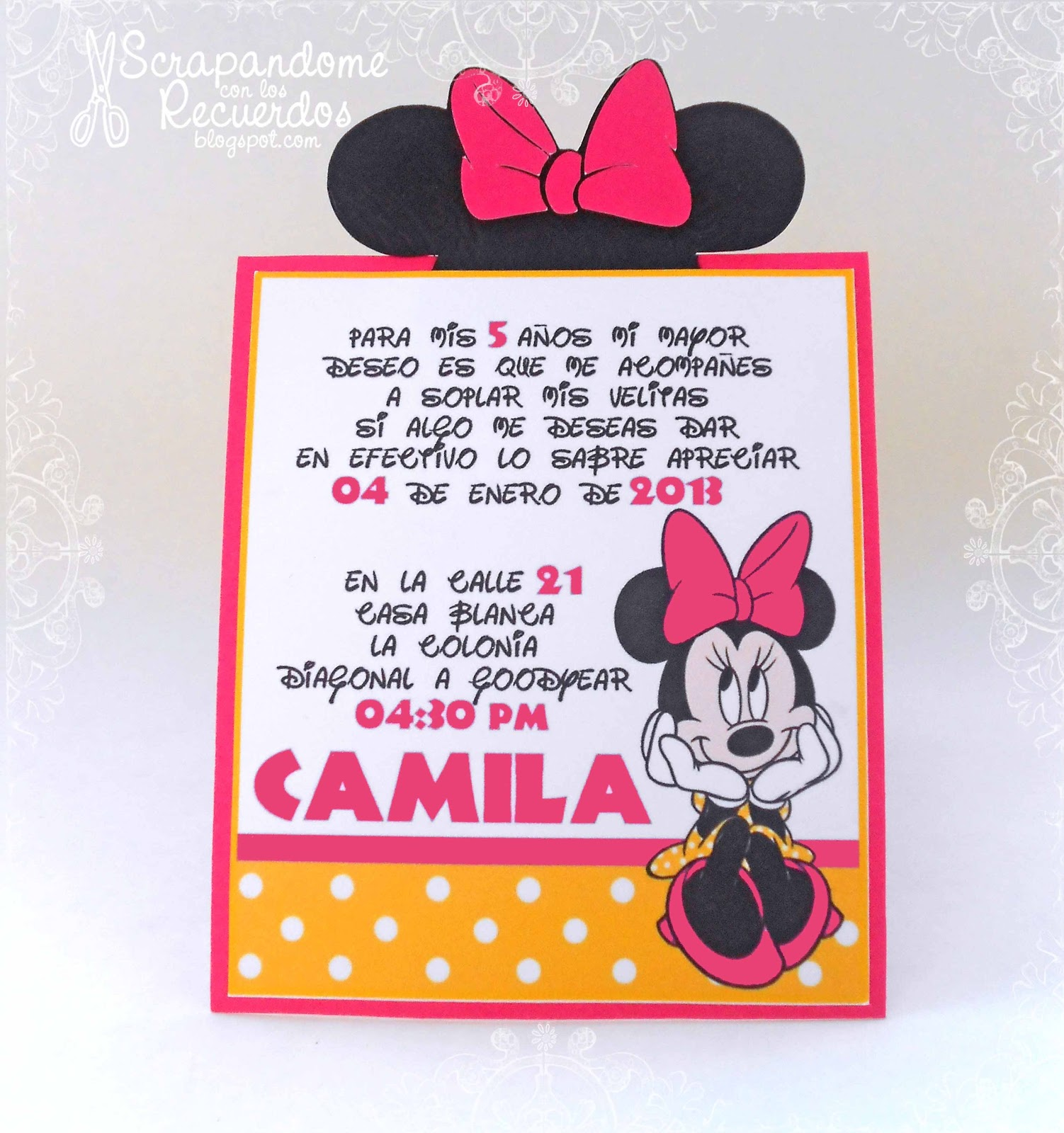 Minnie Mouse Party Camila Cumple