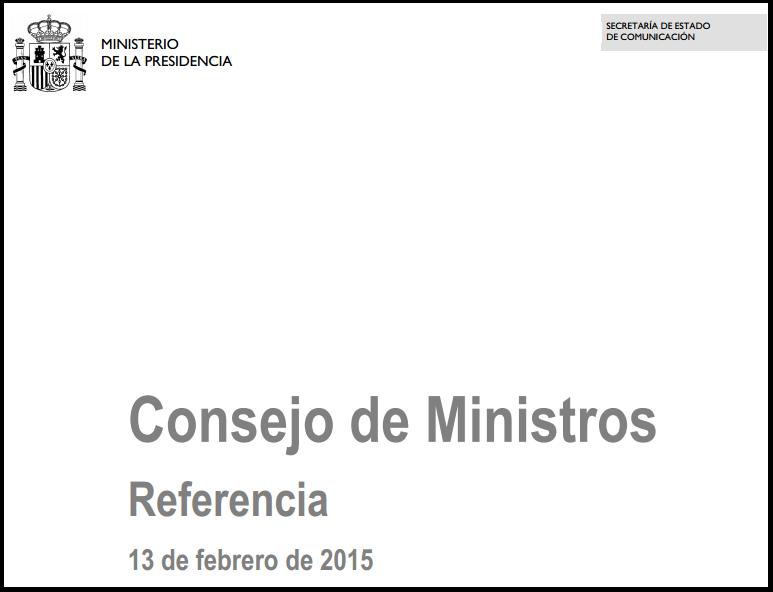 Consejo Ministros aprobación Proyecto Ley Auditoría de Cuentas