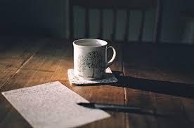 Escrever acalma a alma.