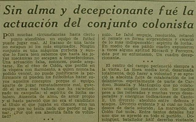 Colón Sarmiento carnets