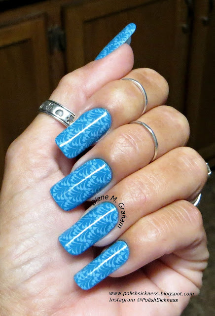 Sally Hansen Blue Me Away, Mundo de Unas Sky Blue, Dana8  stamp