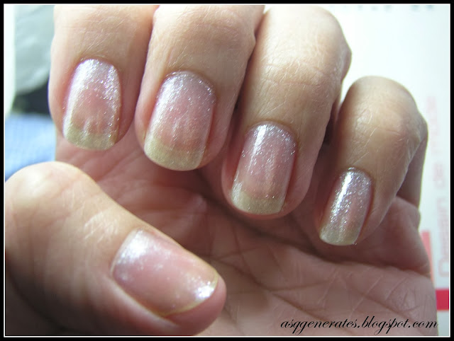 shimmery base color for nail art