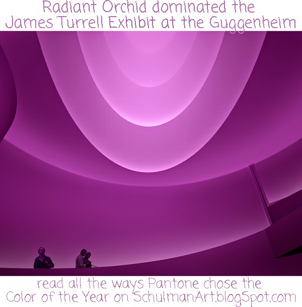pantone color of the year | radiant orchid | 2014 color trends | James Turrell exhibition at the Guggenheim