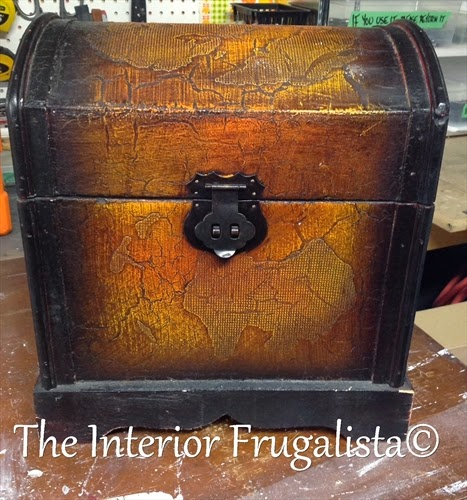 Small decorative trunk makeover Before