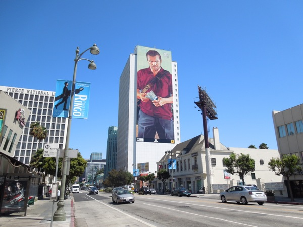 Giant Grand Theft Auto 5 game billboard