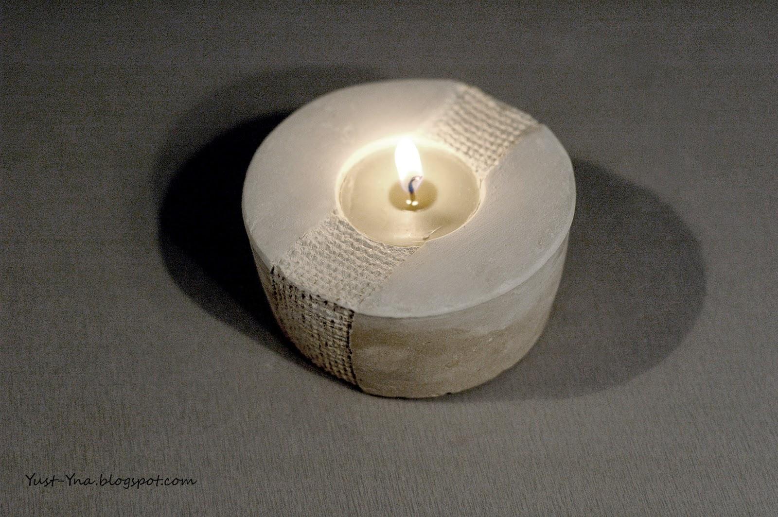 Zrób to sam pomysł na świecznik z gipsu