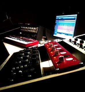 Régie du studio Medusa Prod avec Preamp TL AUDIO NEVE UNIVERSAL FOCUSRITE