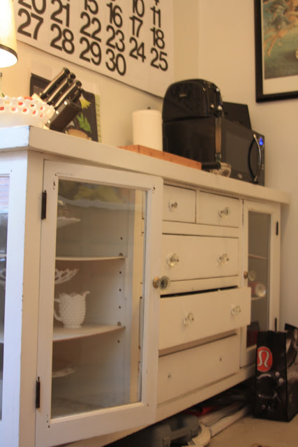 use a dresser as counter space in a small kitchen, before paint Rebuild Health and Home