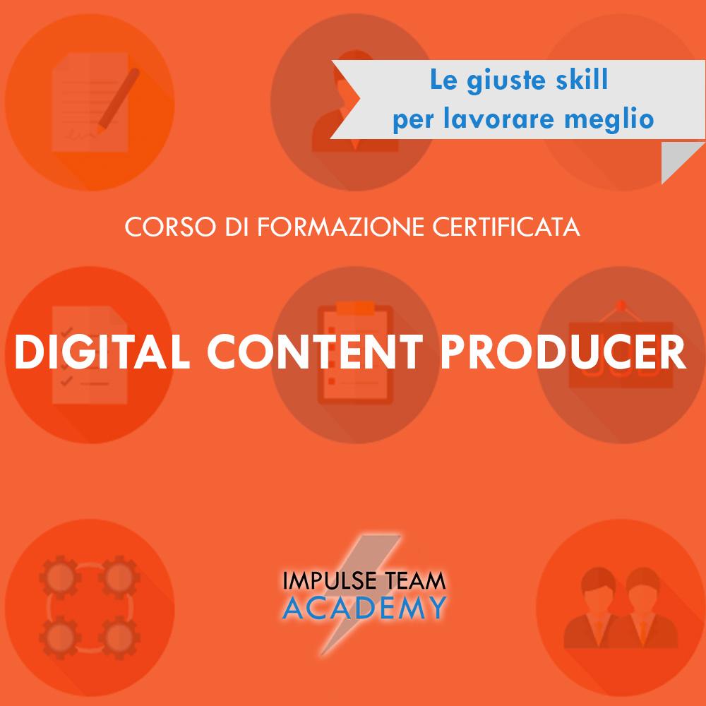 DIGITAL CONTENT PRODUCER CORSO DI FORMAZIONE