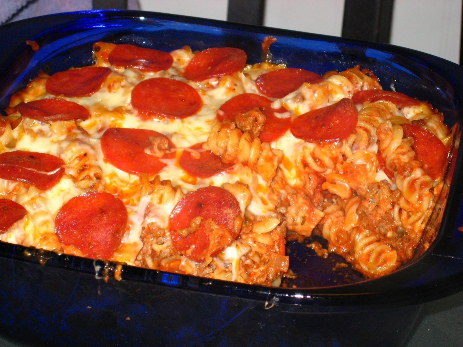 Easy pepperoni pasta bake recipe