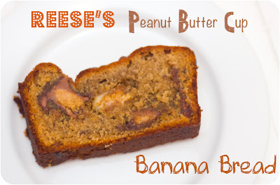 ... Crazy Gem!: White & Milk Choc Reese's Peanut Butter Cup Banana Bread