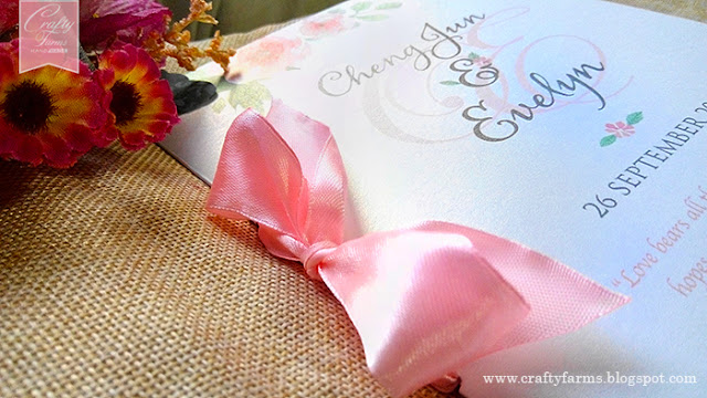 Watercolour Flower Church Ceremony Booklet Kuala Lumpur