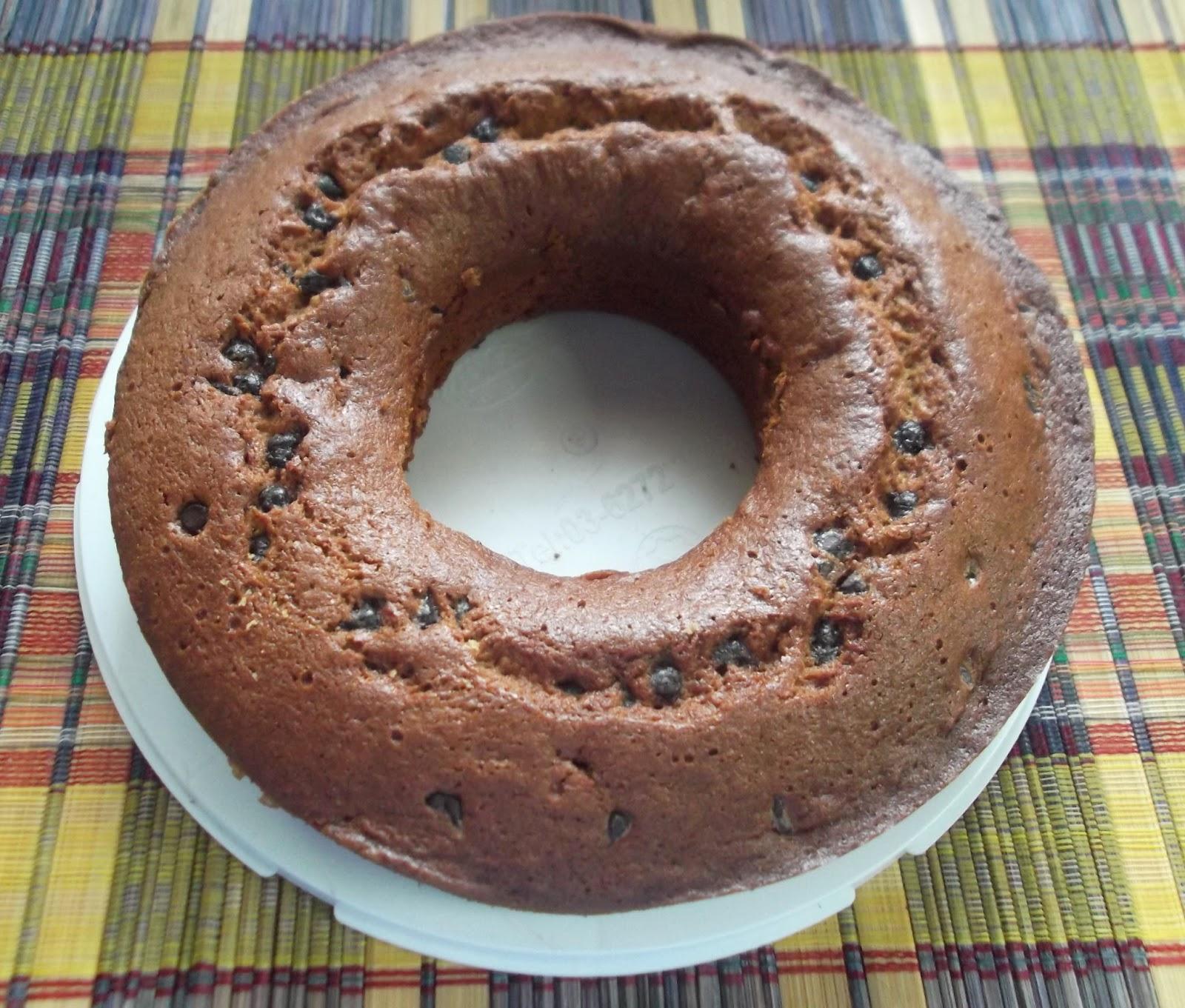resepi kek pisang coklat chip