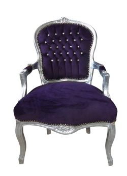 Exceptional WIN This Fabulous Purple Diamante Louis Chair Worth £140!