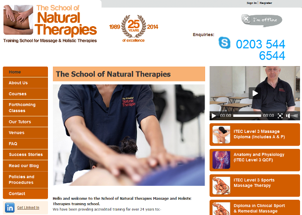 Leading natural and holistic therapy course provider