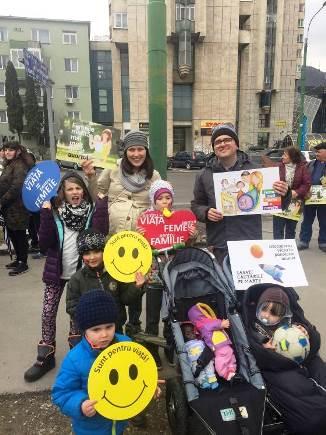 Poza Zilei: Familia Bodnariu la Marșul pentru viață 2017
