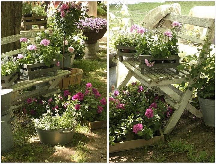 Come arredare un giardino tutto shabby style la figurina