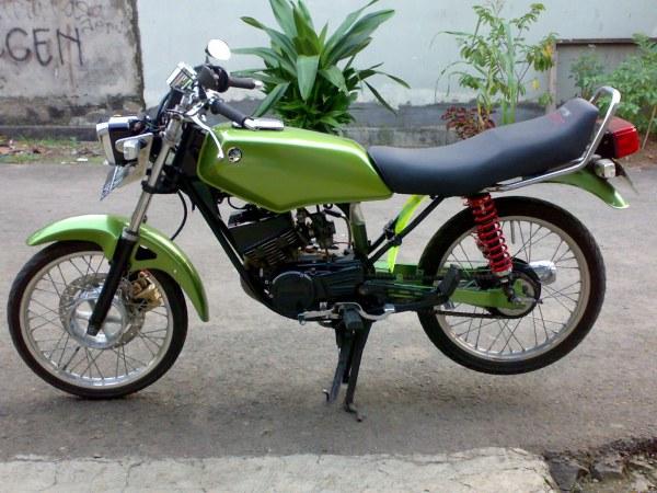 referensi modifikasi motor rx king warna hijau