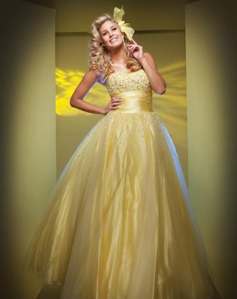vestido de noiva dourado