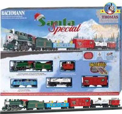 Model toy railroad Bachmann Industries HO Santa Special set locomotive replica electric steam train