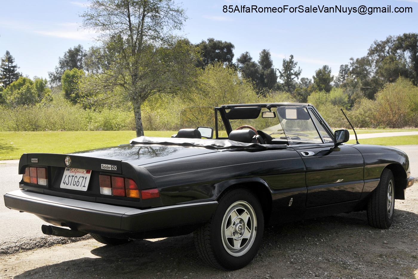 1985 alfa romeo spider veloce convertible for