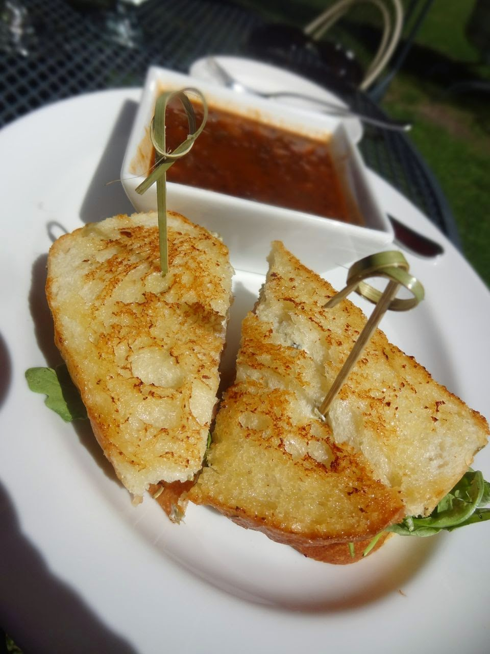 Sherwood Inn House-Smoked Salmon Grilled Cheese with peppery arugula ...