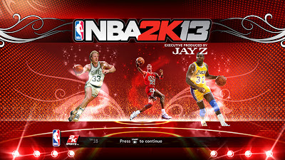 NBA 2K13 Legends Start-up Screen Cover