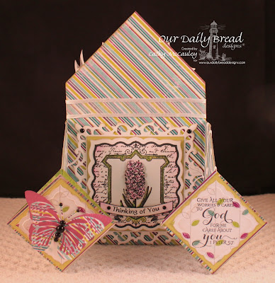 Our Daily Bread Designs, Hyacinth, Scripture Series 3, Fanciful Flourish Die, Exotic Butterflies Die, Labels 26 Dies