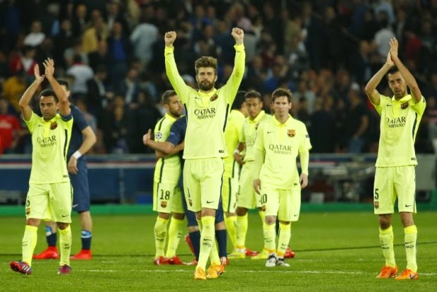 gerard-pique-paris-saint-germain-champions-league-victory