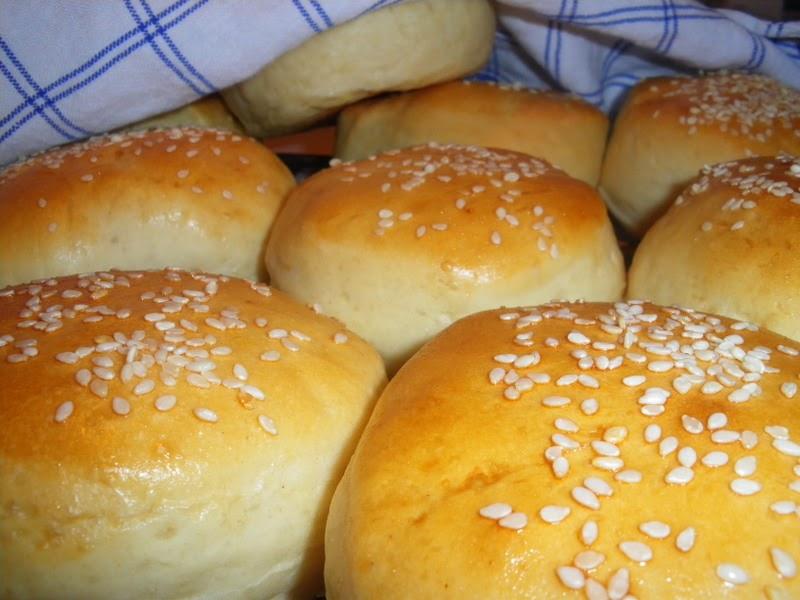 hemmagjorda hamburgerbröd