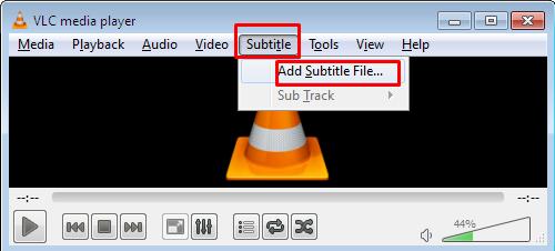 vlc subtitle