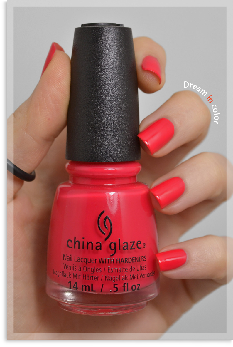 China Glaze I brake for colour