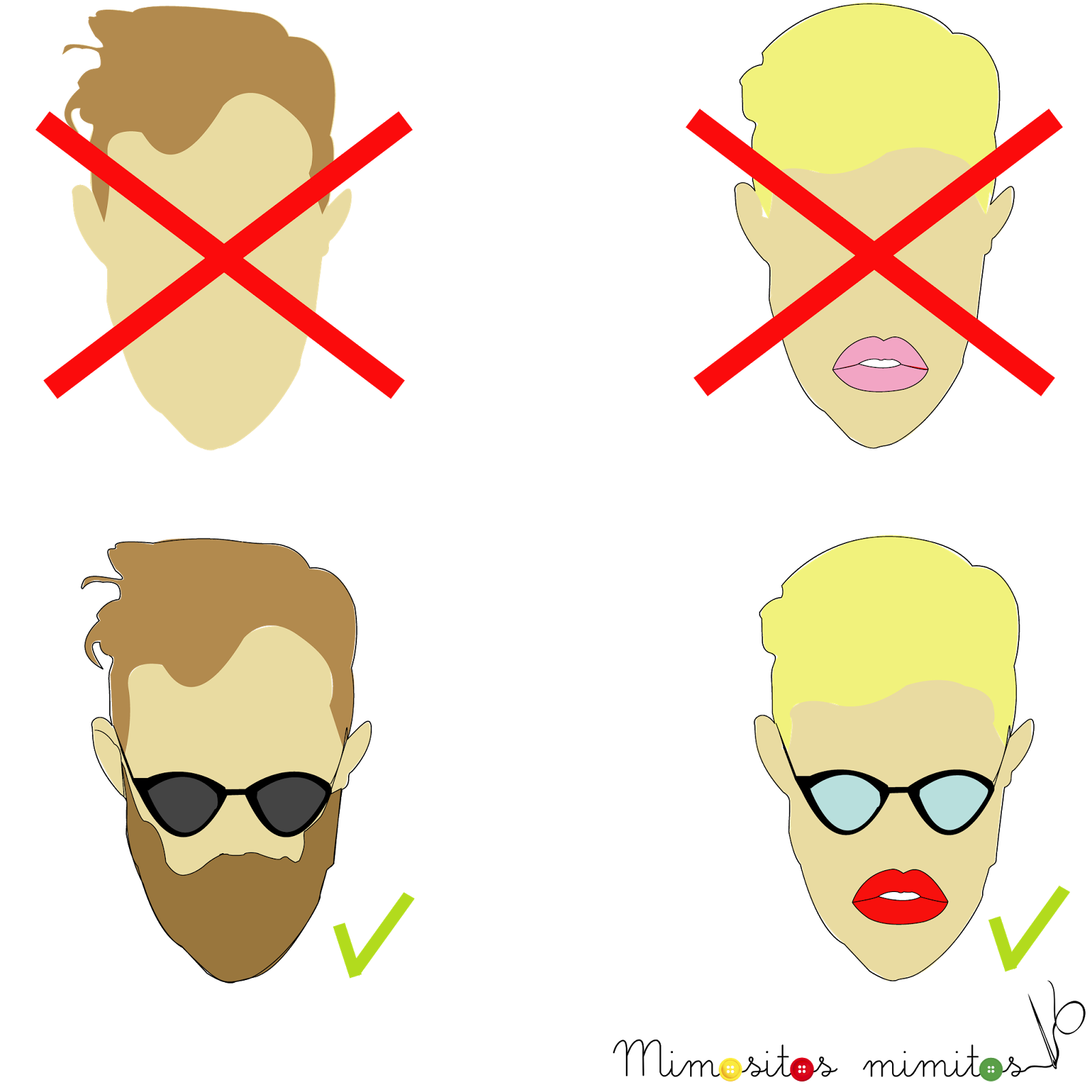 freebies hipster gratis infografia barba gafapasta