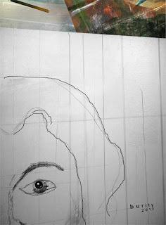 Próximo Matilde - Ainda esboço-acrílica sobre tela 90x90 cms
