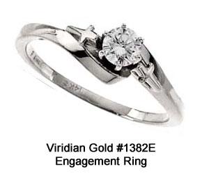 Cross and Diamond Engagement Ring