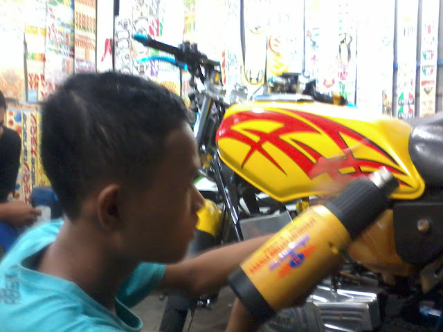 cutting sticker yamaha rx king2